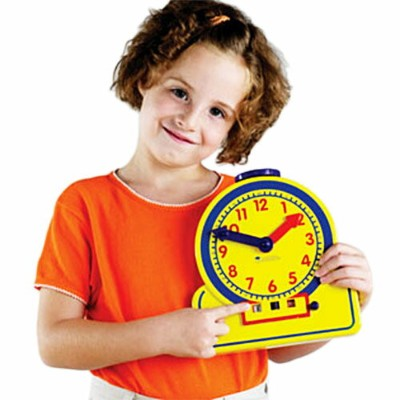 ラーニング リソーシーズ Learning Resources Primary Time Teacher TM Junior 12-Hour Learning Clock R デジタル&アナログ...