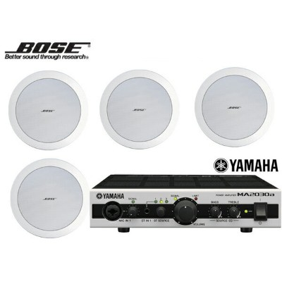BOSE ( ボーズ ) DS16FW (4SP) 天井埋込セット(MA2030a) ホワイト 4台【(DS16FWx4+MA2030a x1)】 [ DS series ][ 送料無料 ]