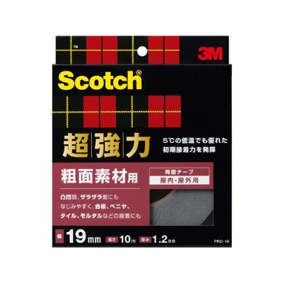 3M/スコッチ 超強力両面テープ 粗面素材用 19mm×10m/PRO-19