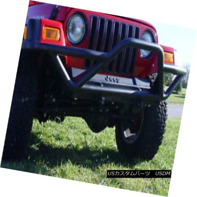 USグリル RRC Front Bumper with Grille Guard, Black; 87-06 Jeep Wrangler YJ/TJ グリルガード付きのRRCフロントバンパー...