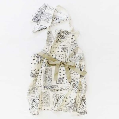 AND PACKABLE アンドパッカブル KIDS APRON キッズエプロン バンダナ WH 89585