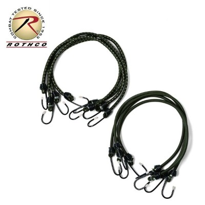 【20%OFFセール開催中】ROTHCO ロスコ BUNGEE SHOCK CORDS 24インチ/ミリタリー 軍物 メンズ  ギフト