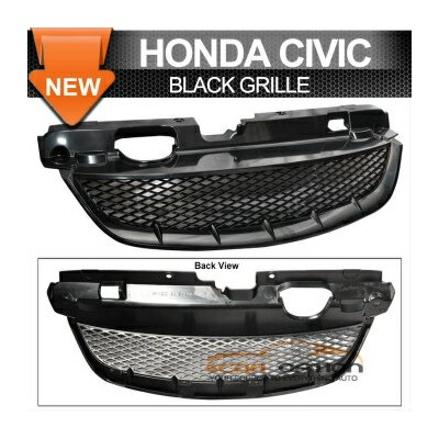 Honda Civic 2Dr T-R グリル 04-05 Honda Civic 2Dr T-R Front Grille Grill EX Lx 04-05ホンダシビック2DR T...