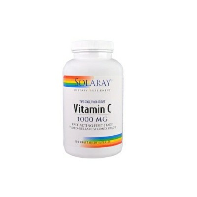 Solaray Two Stage Time Released Vitamin C 1000 mg ソラレー タイム リリース ビタミンC 250 錠