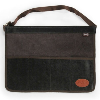 [OUTLET] | Bradley's | Suede Leather Tool Roll Apron 4 Pocket4ポケット スウェードレザー ツールロール エプロン Chocolate |...