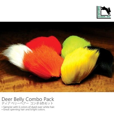 Hareline Deer Belly Combo Pack ディア ベリーヘアー コンボ 6色セット