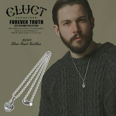 CLUCT クラクト SILVER HEART NECKLACE 2017 秋 冬 メンズ ネックレス シルバー ハート ストリート 送料無料