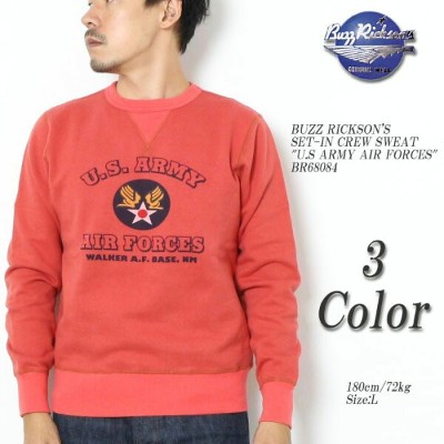 """BUZZ RICKSON'S バズリクソンズ SET-IN CREW SWEAT """"U.S.ARMY AIR FORCES"""" BR68084 ≪新商品!≫"""