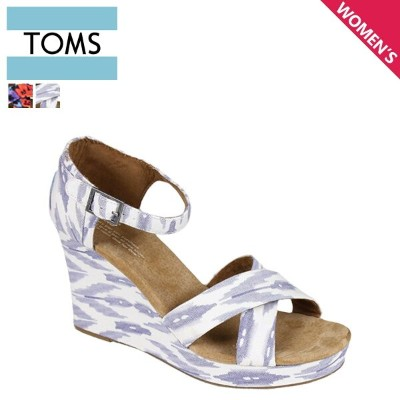 TOMS レディース トムス シューズ サンダル toms shoes トムズ WOMEN'S SUSTAINABLE STRAPPY WEDGES トムズシューズ