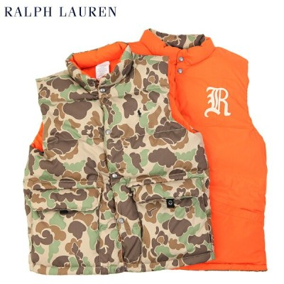 """POLO by Ralph Lauren Boy's """"CAMOUFLAGE"""" Reversible Down Vest USラルフローレン ボーイズダウンベスト"""