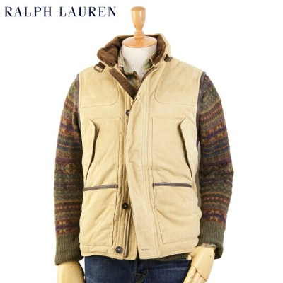 POLO by Ralph Lauren Men's Leather Hunting Down Vest USポロ ラルフローレン レザー ハンティング ダウンベスト
