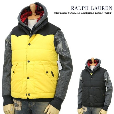 POLO by Ralph Lauren Men's Western York Reversible Down Vest USポロ ラルフローレン リバーシブルダウンベスト