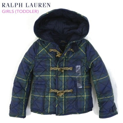 "(TODDLER) POLO by Ralph Lauren ""GIRL (2-6X)"" Quilted Duffle Coat USラルフローレン 子供用のキルティング ダッフルコート (UPS)"