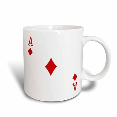3dRose mug_76550_3 Ace of Diamonds Playing Card-Red Diamond Suit, Magic Transforming Mug, 330ml