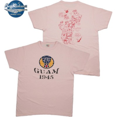 """BUZZ RICKSON'S (バズリクソンズ) S/S T-SHIRT """"20th AIR FORCE GUAM"""" (半袖バックプリントTシャツ) PINK(ピンク)"""