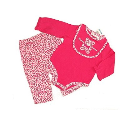First Impressions 0-3 Months 3-piece Mommy Loves Me Cheetah Set Outfit by First Impressions