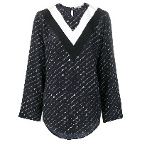 Stella McCartney monogram blouse - ブルー