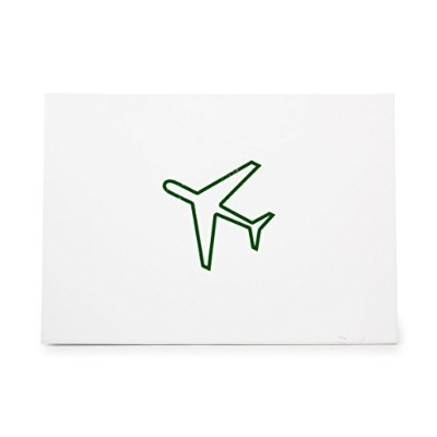 Aeroplane Travelling Plane Style 6121, Rubber Stamp Shape great for Scrapbooking, Crafts, Card...
