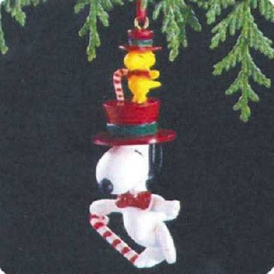 Snoopy and Woodstock 1989ホールマークOrnament qx4332