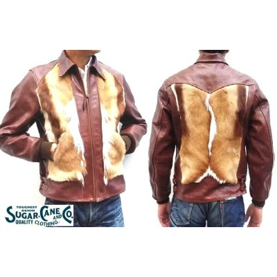 Sugar Cane シュガーケーン 1930年代 30's HORSEHIDE& Spring Bok SPORTS LEATHER JACKET Lot.SC80519/Made in...