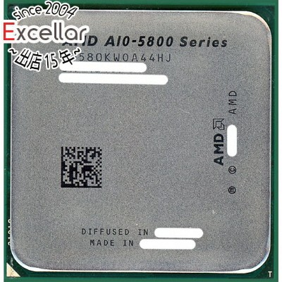 【中古】AMD A10-Series A10-5800K 3.8GHz Socket FM2 AD580KWOA44HJ