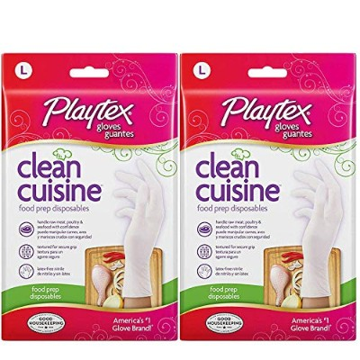 Playtex CleanCuisine Disposable Gloves Large - 2 Packs Of 30 Count = 60 Count by Playtex