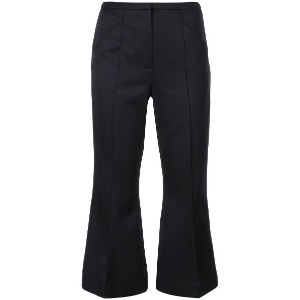 Dorothee Schumacher kick flare cropped trousers - ブラック