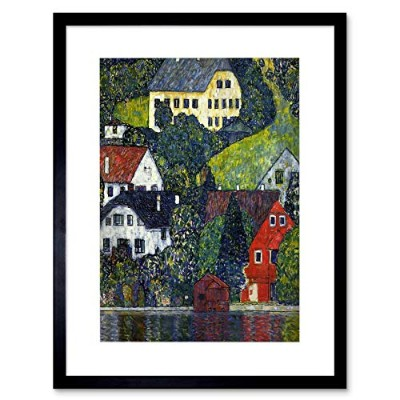 Klimt Houses At Unterach On Attersee Old Master Framed Wall Art Print 家オールドマスター壁