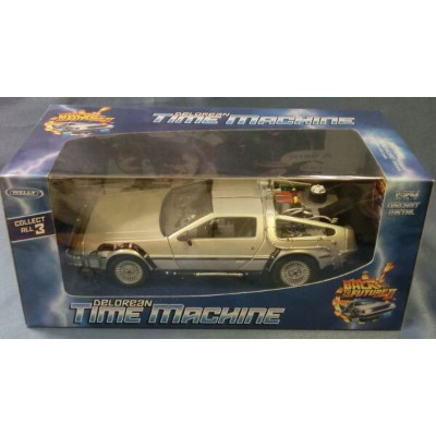 デロリアン2 Back to the Future2 1/24 WELLY collect All3 bl [新品]