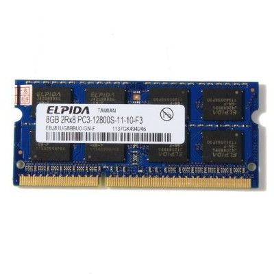 ELPIDA 8GB Memory Ram PC3-12800S-11-10-F3 1600MHZ 204pins SO-DIMM