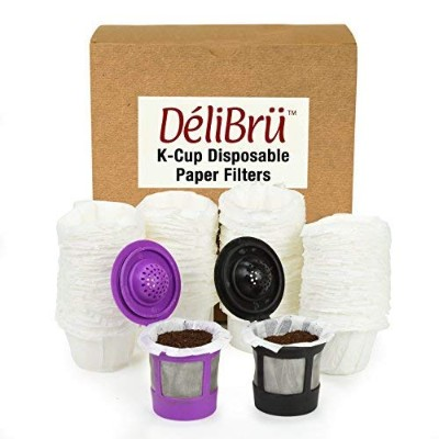 Optional Disposable Paper Filters for Reusable K Cups Fits All Brands (100/Box)