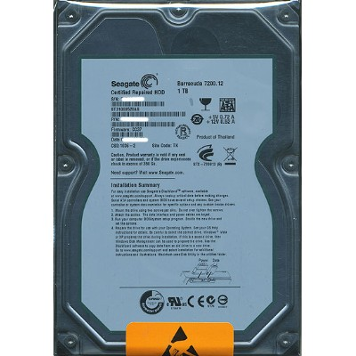 SEAGATE製HDD ST31000528AS 1TB SATA300 7200