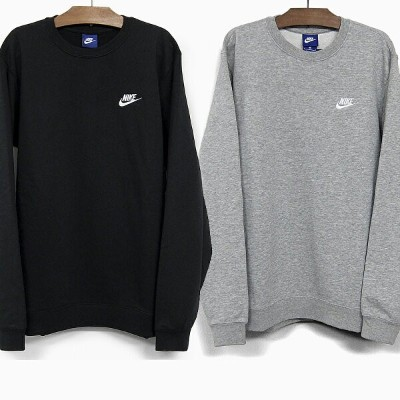 NIKE ナイキ スウェット トレーナー NSW CLUB FRENCHTERRY CREWNECK [804343-010 BLACK/WHITE 804343-063 DARK GREY...