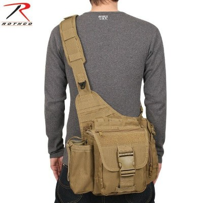 【20%OFFセール開催中】メンズ ミリタリー バッグ / 【ROTHCO】 ADVANCED TACTICAL バッグ COYOTE BROWN ミリタリーバッグ ショルダーバッグ 【2638】...