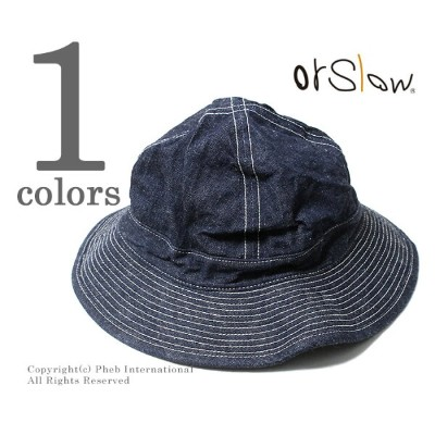 orSlow オアスロウ ハット U.S.NAVY デニム ミリタリーハット 03--001 US NAVY HAT UNISEX MADE IN JAPAN (03--001-81W)