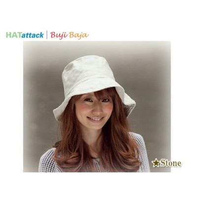 ★HAT ATTACK BAC101-STONE ハットアタックUVカットコットンハット/ストーン 11999 16490【MADE IN U.S.A.】【UV対策】【つば大きめ】【高級コットン素材...