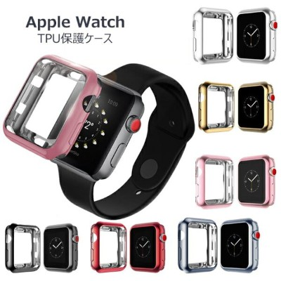 Apple Watch Series 4 ケース 44mm Apple Watch Series 4 40mm ケース Apple Watch ケース シリーズ1/2/3 保護ケース TPUソフト...