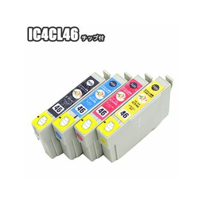IC4CL46 【チョイス】 互換インク エプソン EPSON IC4CL46 セット ic46 ICBK46 ICC46 ICM46 ICY46 px-101 px-501a px-a720 px...