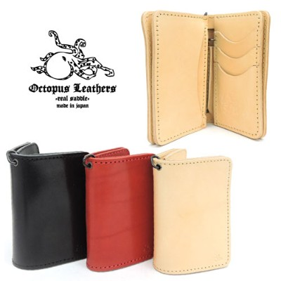 【OCTOPUS LEATHERS】オクトパスレザース【送料無料/あす楽】TYPE1 MIDDLE WALLET タイプ1 ミドルウォレット/栃木レザー/ワイルド/ミドルウォレット