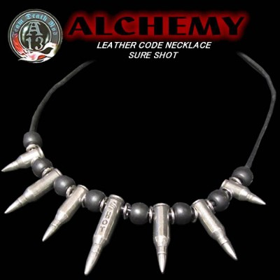 ◆ALCHEMY UL13アルケミーLEATHER CODE NECKLACESURE SHOT弾丸ネックレス