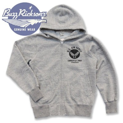 BUZZ RICKSON'S(バズリクソンズ) US AIR FORCE FULL ZIP PARKA スウェットパーカー BR65599 Made in JAPAN_fs04gm