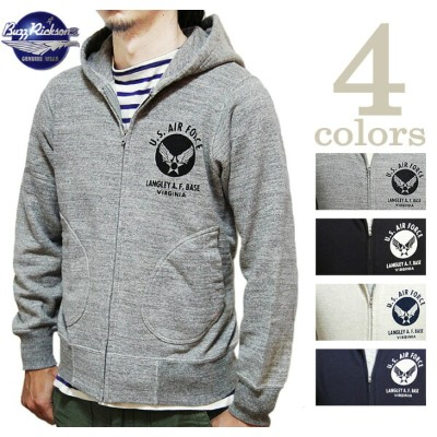 【 BUZZ RICKSON'S(バズリクソンズ) 】 FULL ZIP HOODED SWEAT PARKA [ U.S. AIR FORCES ] 再入荷! [ スウェットパーカ ] [...