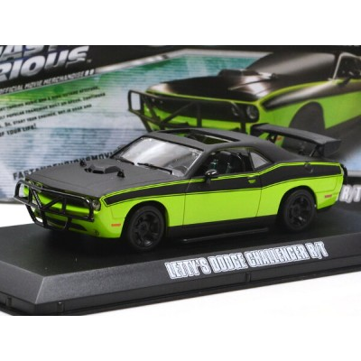 """GREENLIGHT 1:43SCALE """"FAST&FURIOUS 7"""" """"LETTY'S DODGE CHALLENGER R/T""""(GREEN/BLACK) グリーンライト 1:43スケール ..."""