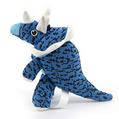 MOREFUN大気 Durable Squeaky Dog Toys Plush Toys for Aggressive Chewers for Small Medium Dogs Blue...