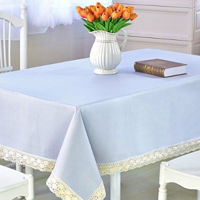 (Square-150cm x 180cm , Lake Blue) - DARUITE Square Tablecloth Heavy Weight Vinyl Rectangle...