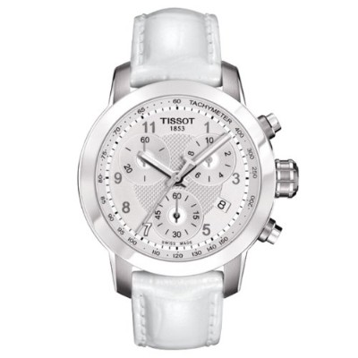 ティソ 腕時計 レディース Tissot T0552171603200 Women's Le Prc 200 Danica Racing Chrono White Genuine Patent...