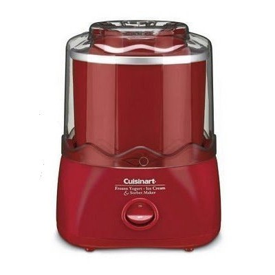 クイジナート アイスクリームメーカー Cuisinart Frozen Dessert Maker (RED) - Frozen Yogurt, Ice-Crea