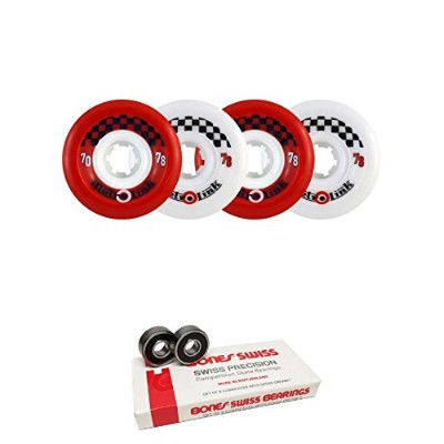 ウィール タイヤ スケボー スケートボード 海外モデル 70mm Metro Wheel Company Link Red/White Longboard Skateboard Wheels -...