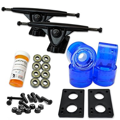 トラック スケボー スケートボード 海外モデル 直輸入 071-Gel Blue Wheel-Polished Trucks Yocaher Longboard Skateboard Trucks...