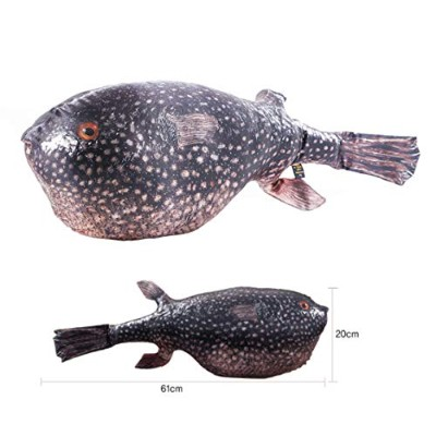 """【miracle story by fish&fancy】超リアル!""""魚""""クッション(Fish Cushion) (ホシフグ)"""